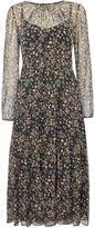 Max Mara CERTO 34 sleeve silk floral print midi dress