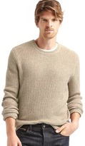 Gap Merino wool blend ribbed crew sweater