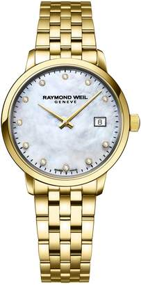 Raymond Weil Toccata Goldtone Stainless Steel Diamond Bracelet Watch