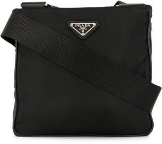 Prada Pre-Owned Triangular Logo Plaque Crossbody Bag