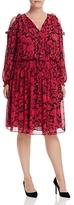 MICHAEL Michael Kors Garden Print Cold-Shoulder Dress