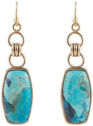 Barse Artisan Crafted Turquoise Dangle Earrings