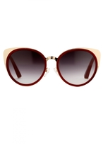 Matthew Williamson Garnet Playful Cat Eye Sunglasses