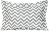 Glenna Jean Swizzle Large Pillow Sham in Grey/White