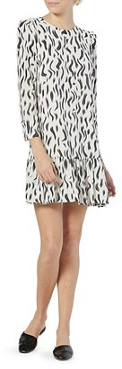 Joie Noto Printed Ruffle-Hem Dress