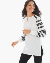 Chico's Knit Kit Majestic Peasant Top