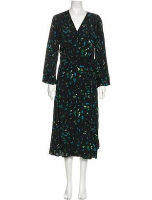 Ganni Floral Print Long Dress w/ Tags