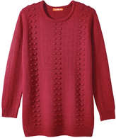 Joe Fresh Women's Popcorn Knit Sweater, Red (Size XS)