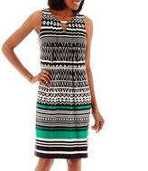 JCPenney Perceptions Sleeveless Hardware Knit Dress