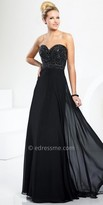 Tony Bowls Le Gala Beaded Sweetheart Chiffon Prom Gown