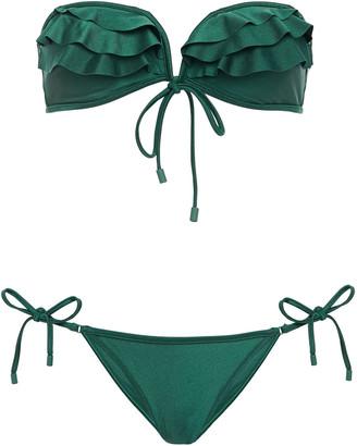 Zimmermann Ruffed Bandeau Bikini