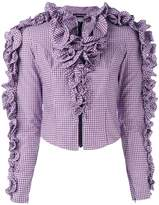 Y/Project Y / Project cropped ruffle blouse