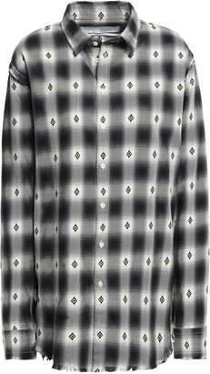 IRO Mondatta Frayed Checked Cotton-jacquard Shirt