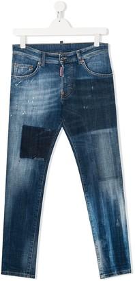 DSQUARED2 Patch Detail Jeans