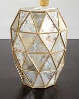 Bernhardt Zora Mirrored Hexagon End Table
