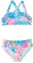 Lilly Pulitzer Little Girl's & Girl's Caia Two-Piece Floral Swimsuit