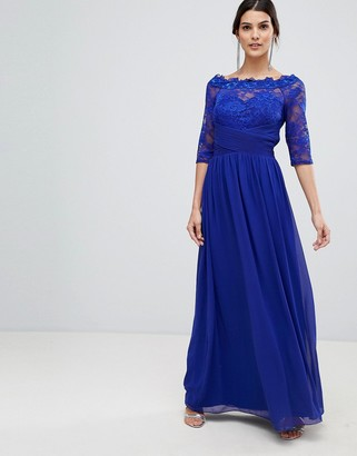 Little Mistress lace maxi dress