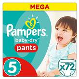 Pampers Baby-Dry Nappies - Batch of 72 - Size 5, 11-18 kg