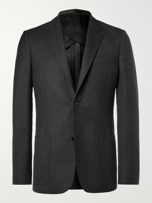 Mr P. Navy Unstructured Worsted Wool Blazer - Men - Gray