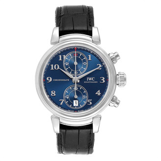 IWC Blue Stainless Steel Da Vinci Automatic IW393402 Men's Wristwatch 42 MM