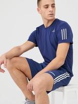 adidas 3 Stripe Linear Chelsea Short - Blue
