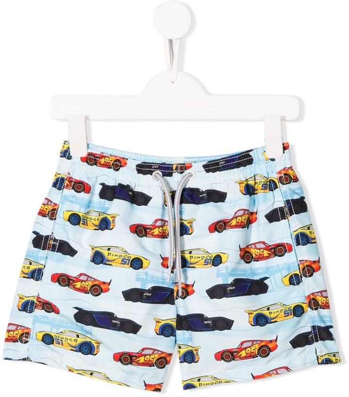 MC2 Saint Barth Kids racing car print shorts