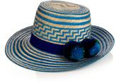 Yosuzi Simea pompom-embellished straw hat