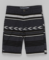 Micros Charcoal Arrow Stripe Shorts - Boys