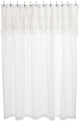 Pom Pom at Home Crochet Shower Curtain - White