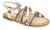 Stuart Weitzman Girl's Camia Woven Sandal
