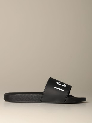 DSQUARED2 Rubber Sandal With Icon Print