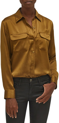 Equipment Signature Solid Button-Down Shirt