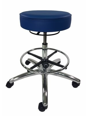 Industrial Seating Height Adjustable Lab Stool Color: Blue