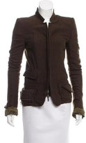 Haider Ackermann Wool-Blend Collarless Jacket