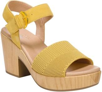 Dr. Scholl's Wooden Platform Sandals - Brickell