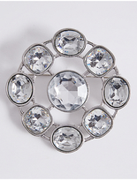 M&S Collection Crystal Brooch