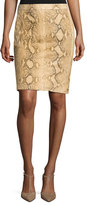Ralph Lauren Tristan Python Pencil Skirt, Multi