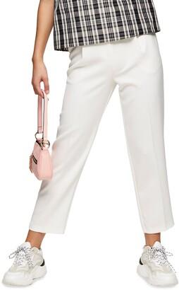 Topshop Straight Leg Crop Trousers
