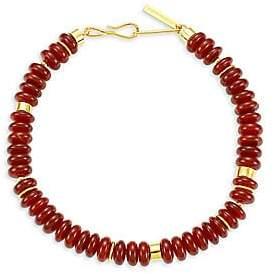 Lizzie Fortunato Women's Sanskrit 18K Yellow Goldplated & Carnelian Bead Necklace