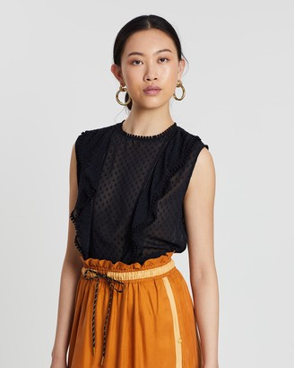 Scotch & Soda Ruffled Pom Pom Top