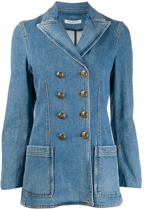 Philosophy di Lorenzo Serafini Double Breasted Denim Blazer