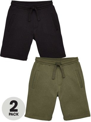 Very Boys Essential 2 Pack Jog Shorts - Black/Khaki