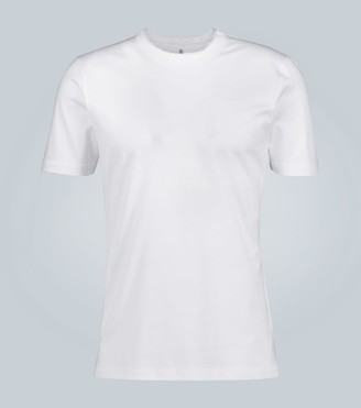 Brunello Cucinelli Cotton layered-collar T-shirt