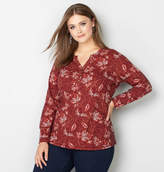 Avenue Batik Floral Thermal Henley