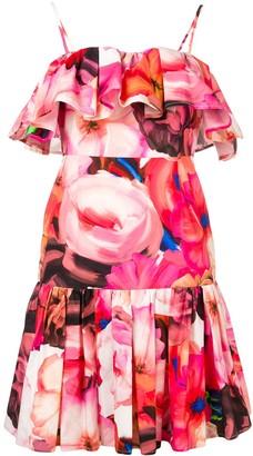 MSGM Ruffle Floral Dress