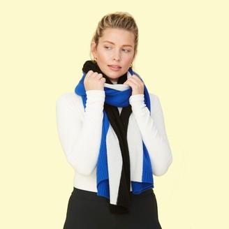 Summersalt The Coziest Cashmere Blanket Scarf - Azure & Sea Urchin