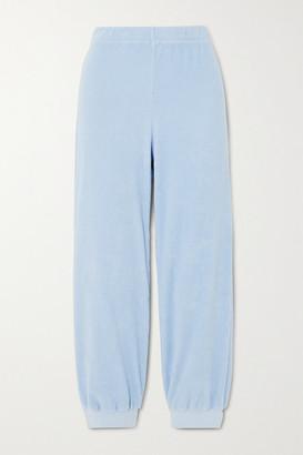 Suzie Kondi Cotton-velour Track Pants