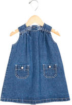 Petit Bateau Girls' Denim Shift Dress