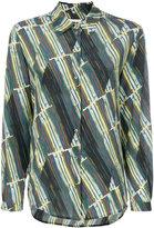 L'Autre Chose printed tie neck shirt