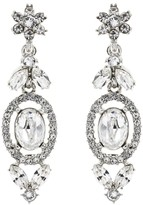 Oscar de la Renta Swarovski Crystal Floral Navette Drop Earrings